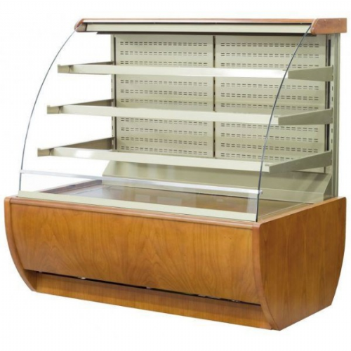 Igloo JA130WW OPEN Wood Open Front Self Service Pastry Case